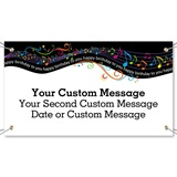 Musical Notes Birthday Vinyl Banners