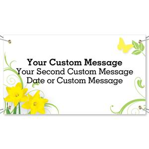 Daffodil Delight Vinyl Banners