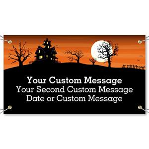Haunted Hill Vinyl Banners