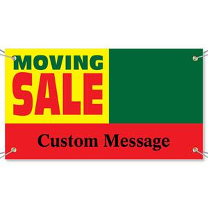 Moving Sale Vinyl Banners