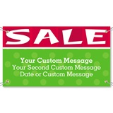Red and Green Sale Vinyl Banners