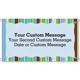 Striped Border Vinyl Banners