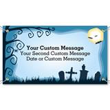 Haunted Cemetery Vinyl Banners