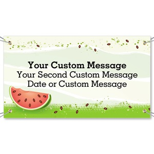 Watermelon Party Vinyl Banners