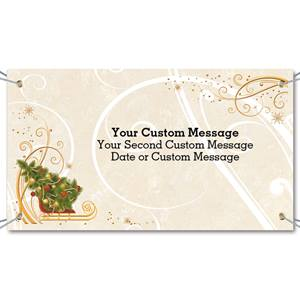 Sleigh with Tree Vinyl Banners