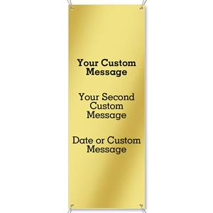 Gold Vertical Banners