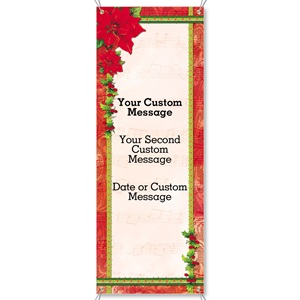 Poinsettia Melody Vertical Banners
