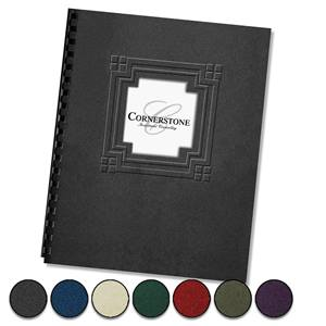 Cornerstone Embossed Diecut Report Covers