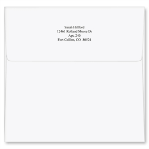 White Square Personalized Envelopes by PaperDirect