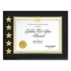 5 Star Certificate Plaque by PaperDirect