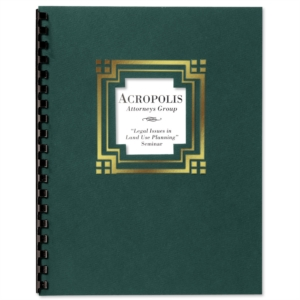 Green Cornerstone Foil Embossed Diecut Report Covers by PaperDirect