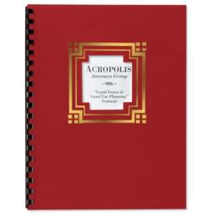 Red Cornerstone Foil Embossed Diecut Report Covers by PaperDirect