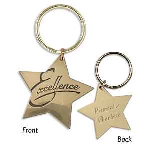 Star Key Ring Excellence by PaperDirect