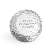 Crystal Golf Ball Paperweight by PaperDirect
