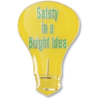 Safety is a Bright Idea Recognition Pin