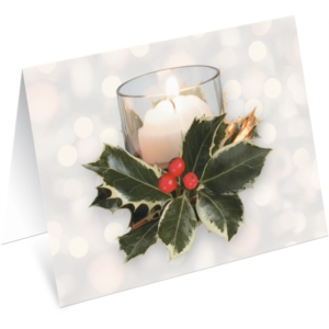 Shimmering Votives Holiday NoteCards by PaperDirect