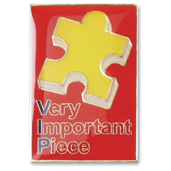 VIP Puzzle Piece Pin by PaperDirect