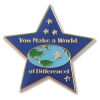 Star World of Difference Recognition Pin by PaperDirect
