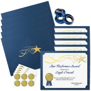 Deluxe Shooting Star Certificate Bundles by PaperDirect