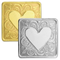 Whimsy Heart Deluxe Embossed Seals by PaperDirect