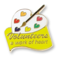 Volunteers a work of Heart Pin