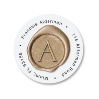 Impressed Wax Round Address Labels by PaperDirect