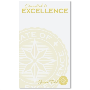 Committed To Excellence Personalized Notepad by PaperDirect