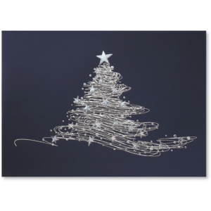 Star Tree Deluxe Holiday Greeting Card by PaperDirect