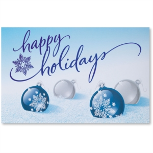 cobalt christmas printable greeting cards by paperdirect - Holiday Christmas Cards