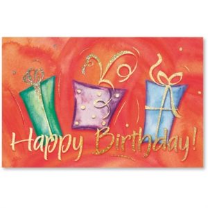 Dancing Gifts Birthday Deluxe Greeting Cards by PaperDirect