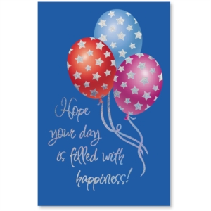 Festive Balloons Birthday Deluxe Greeting Cards by PaperDirect