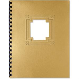 Gold Cornerstone Glisten Diecut Presentation Covers
