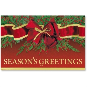 Trimmed in Gold Printable Christmas Greeting Cards by PaperDirect