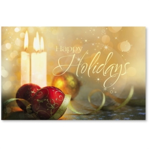 Season's Sparkle Printable Greeting Cards by PaperDirect