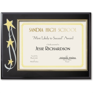 Stars Certificate Plaque by PaperDirect