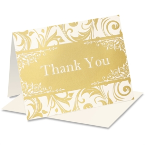 Vintage Elegance Specialty Thank You NoteCards