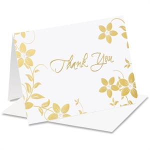Floral Vine Specialty Thank You NoteCards