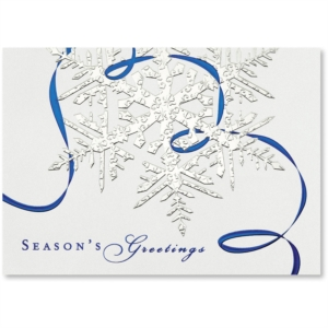 Shiny Facets Deluxe Holiday Greeting Card by PaperDirect