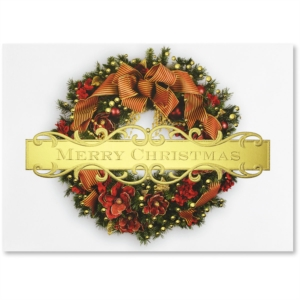 Christmas Once Again Deluxe Holiday Greeting Card by PaperDirect