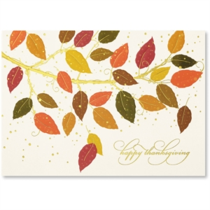 Autumn Colors Deluxe Greeting Card by PaperDirect