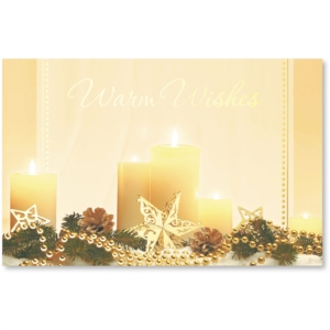 Glowy Candle Printable Greeting Card by PaperDirect
