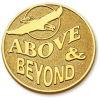 Above and Beyond Gold Pin