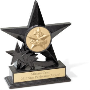 Star Medallion Stone Trophy