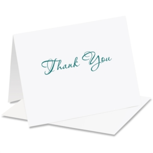 Scripty Thank You NoteCards by PaperDirect