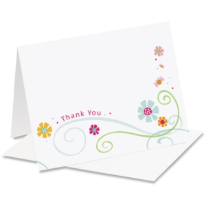 Cheerful Thank You NoteCards