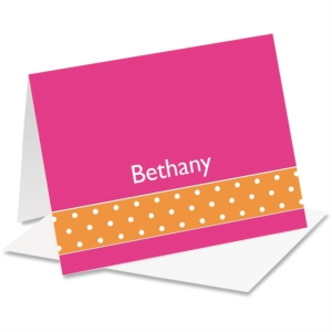 Dot Accents Personalized NoteCards by PaperDirect