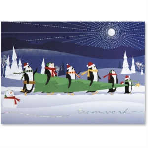 Christmas Adventure Deluxe Holiday Greeting Card by PaperDirect