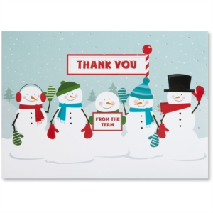 Thankful Team Deluxe Holiday Greeting Card by PaperDirect