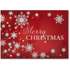 Snowy Day Deluxe Holiday Greeting Card by PaperDirect