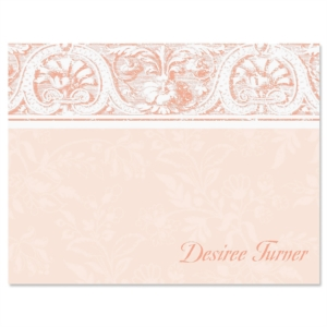Elegant Border Personalized Correspondence Cards by PaperDirect